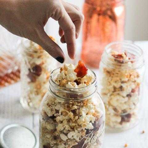 DIY Hostess Gift: Maple, Bacon, Bourbon Popcorn