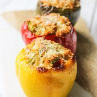 Turkey Stuffed Peppers with Quinoa