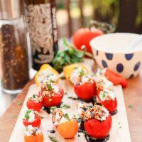 Caprese Tomato Bites