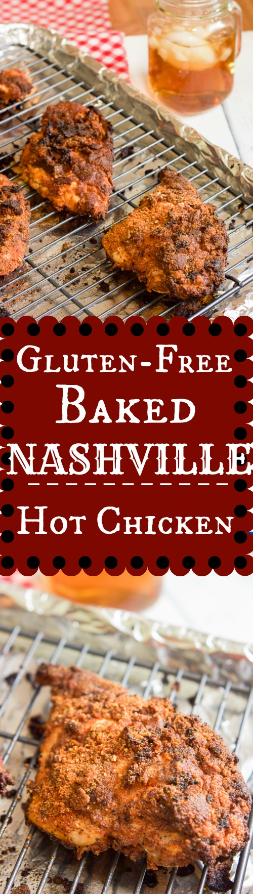 This gluten-free baked Nashville hot chicken recipe combines sweet and spicy flavors that's crispy crunchy on the outside and oh so juicy on the inside. Now you can have this southern treat at home and a much healthier gluten free baked version at that!