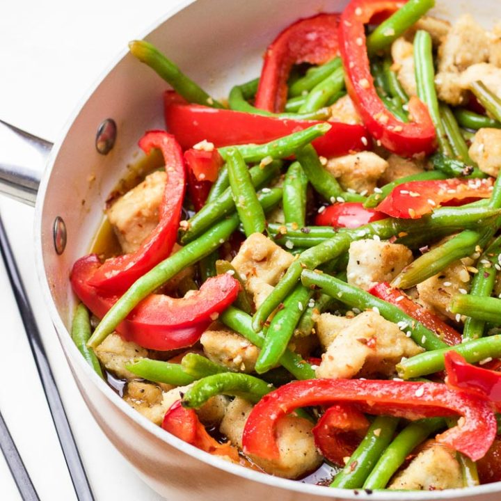 Coconut Sesame Chicken and Green Beans