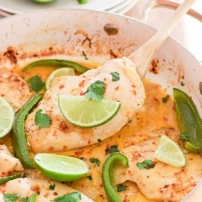 Fresh Creamy Cilantro Lime Chicken