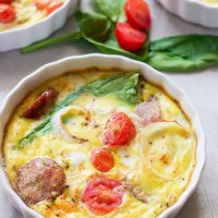 Protein Packed Goat Cheese Egg Bake