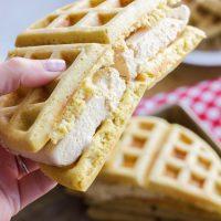 Bourbon Brown Sugar Ice Cream Waffle Sandwiches