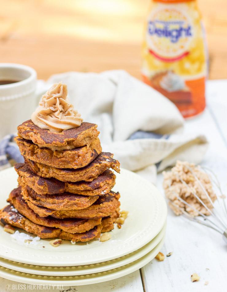Pumpkin Gluten-Free Pancakes with Pumpkin Spice Frosting