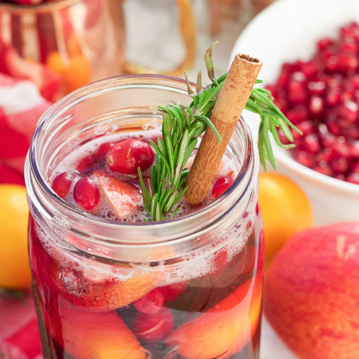 Winter Pomegranate Cranberry Christmas Sangria