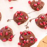 Dark Chocolate Pomegranate Bites