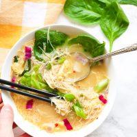 Egg Drop Noodle Soup + Kimchi Sauce
