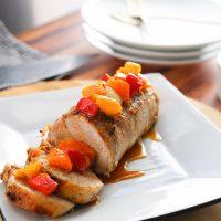 Garlic Honey Pork Loin + Sweet Bell Pepper Salsa