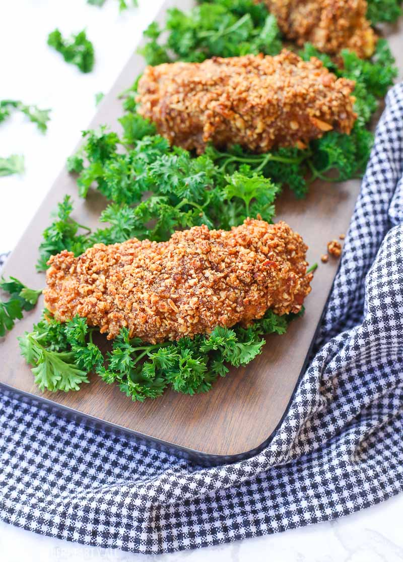 Almond crusted chicken tenders: gluten free, protein packed, and low carb! 1