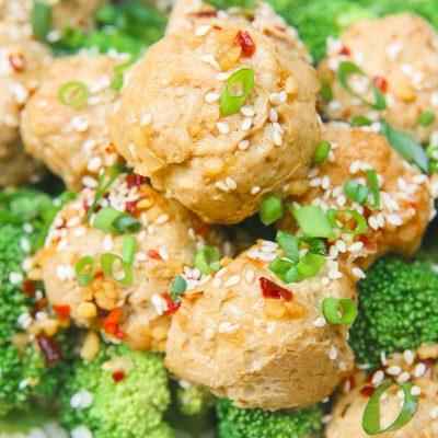 Sesame Ginger Paleo Turkey Meatballs