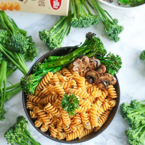 Noodle Bowl with Parmesan & Broccolini