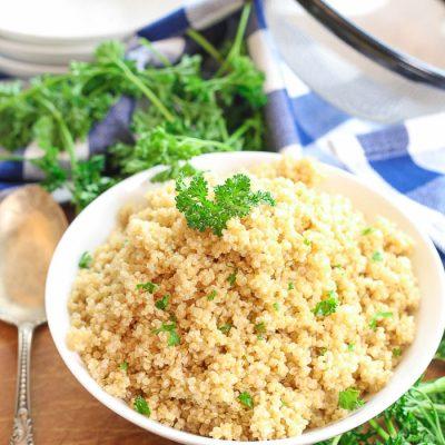 Instant Pot Quinoa (Pressure Cooker)