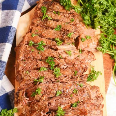 London Broil in Crock Pot