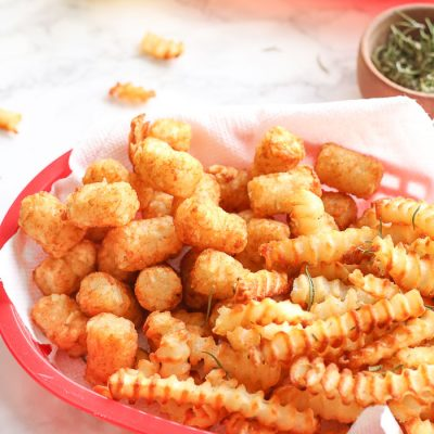 Air Fryer Frozen French Fries & Frozen Tater Tots
