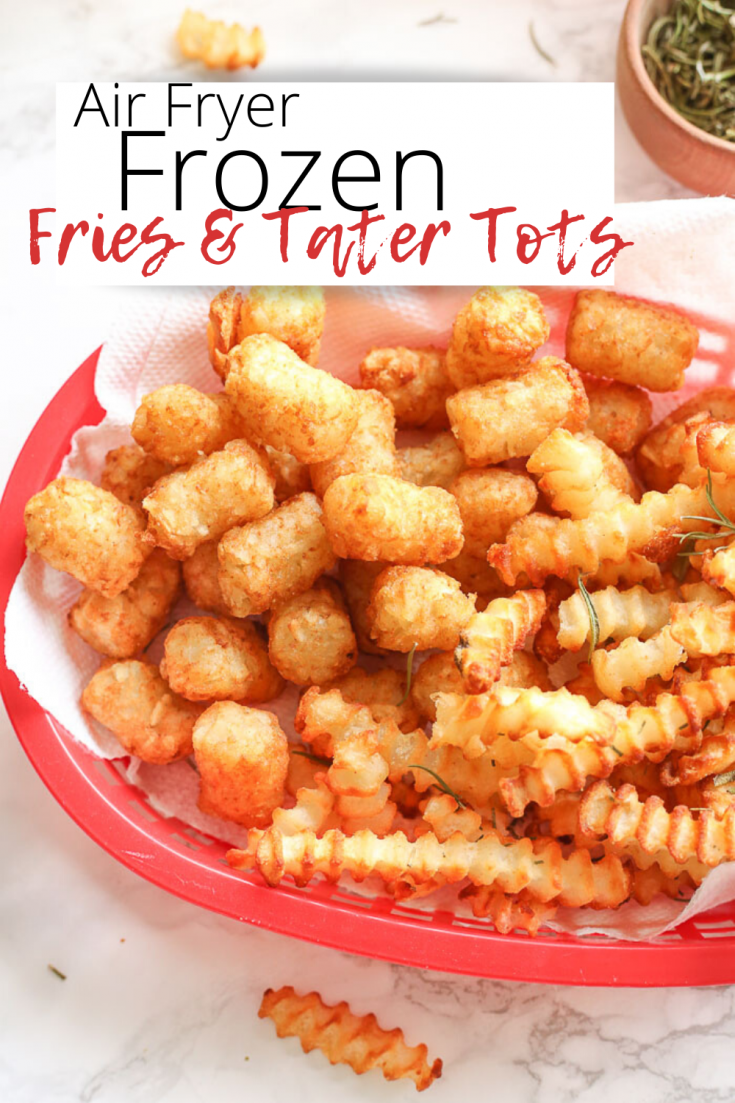Air Fryer Frozen French Fries and Air Fryer Frozen Tater Tots are the easiest thing you'll ever make in your kitchen! Each nook and cranny will be perfectly crispy and golden brown following this posts' technique!