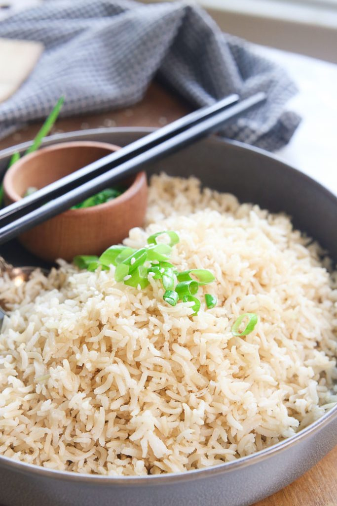 Easy and quick pressure cooker brown rice recipe!