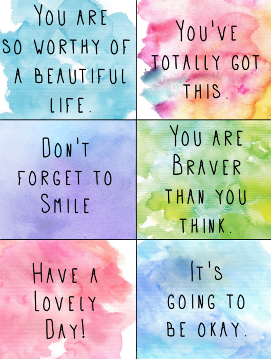 This is a picture of Smart Kindness Cards Printable