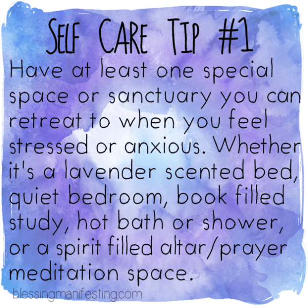 Self Care Tip: Sanctuary