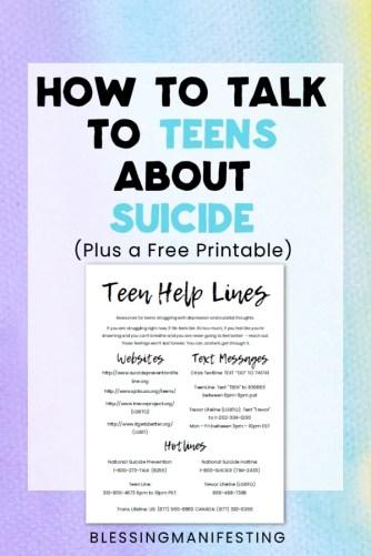 Teen suicide parents