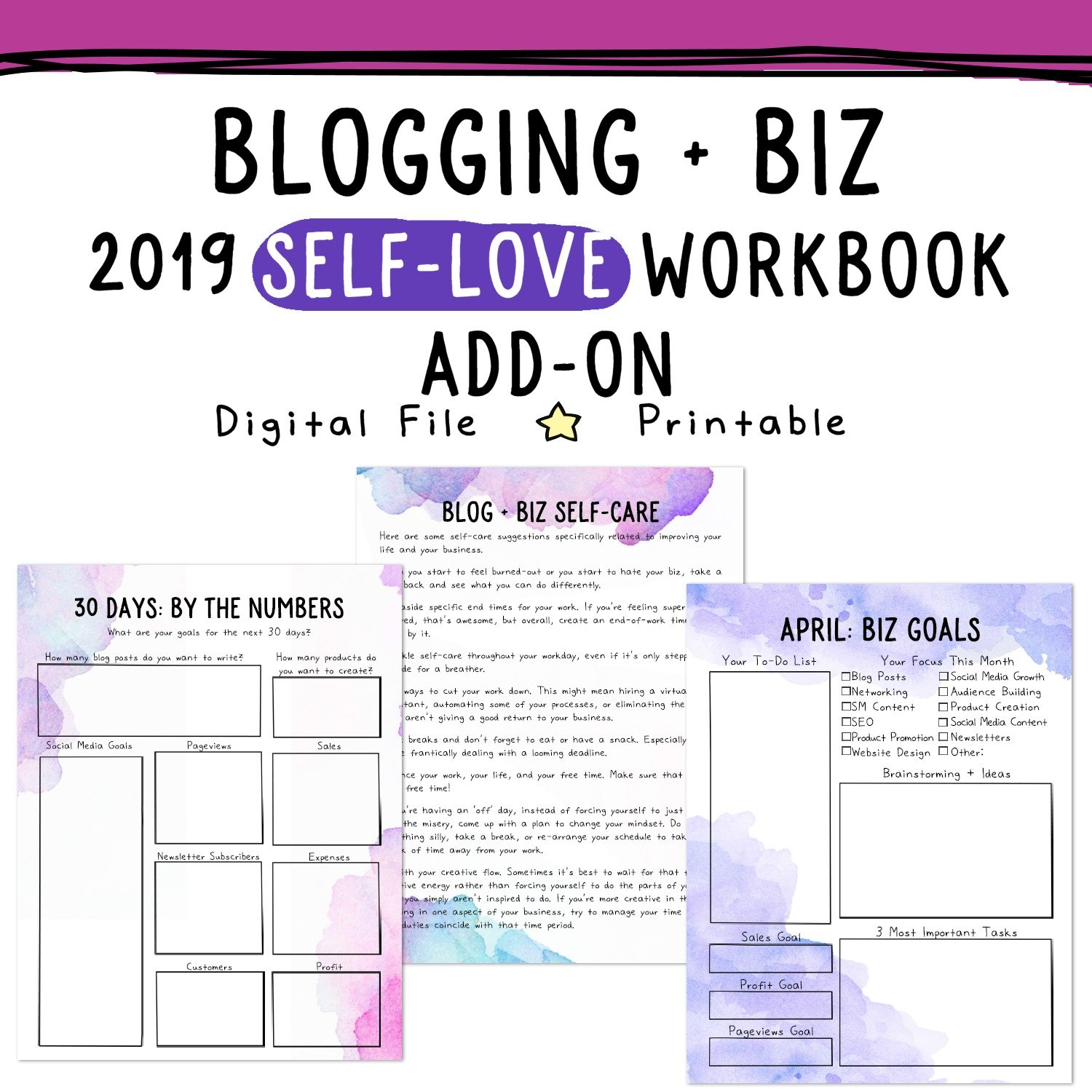 Self Love Workbook And Planner