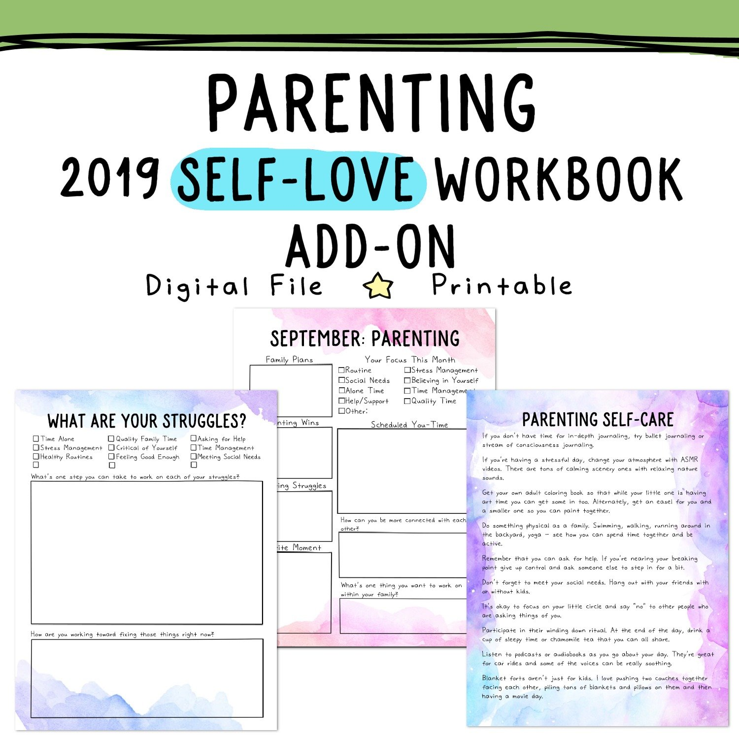 parenting worksheets