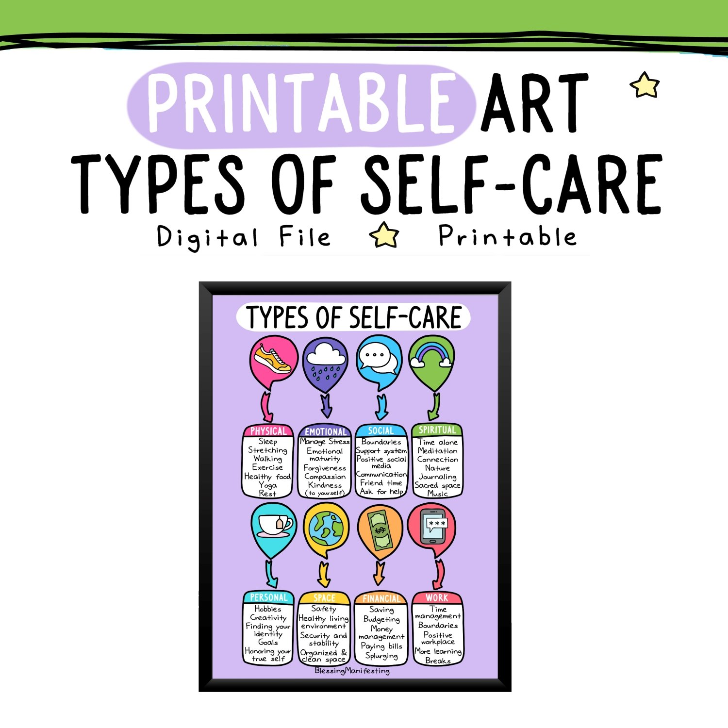 Printable Self Care Art