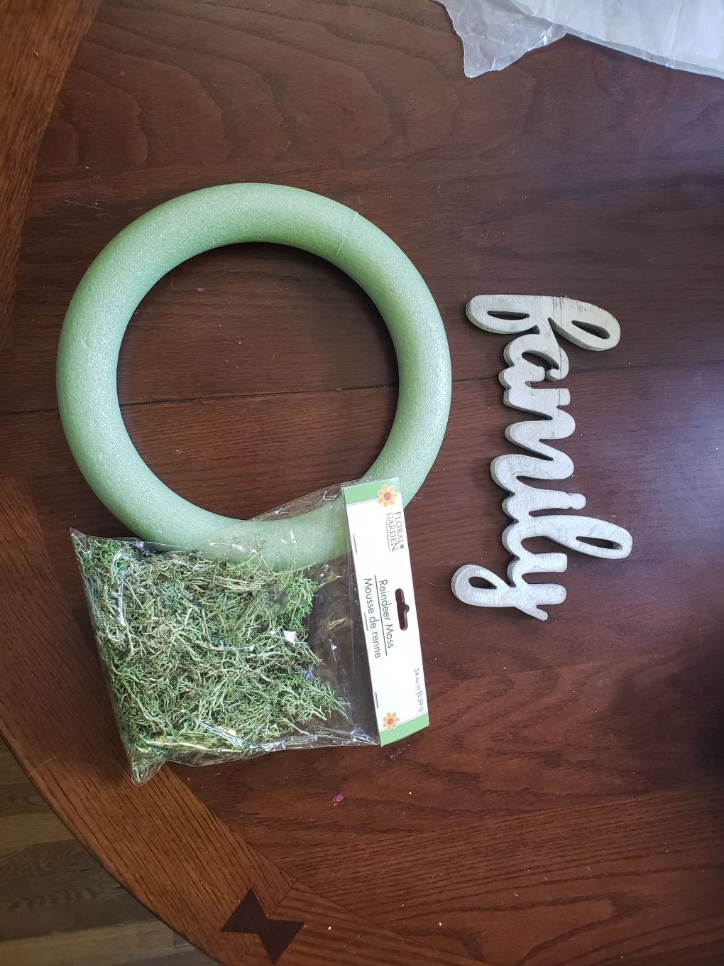 Dollar Tree wreath materials