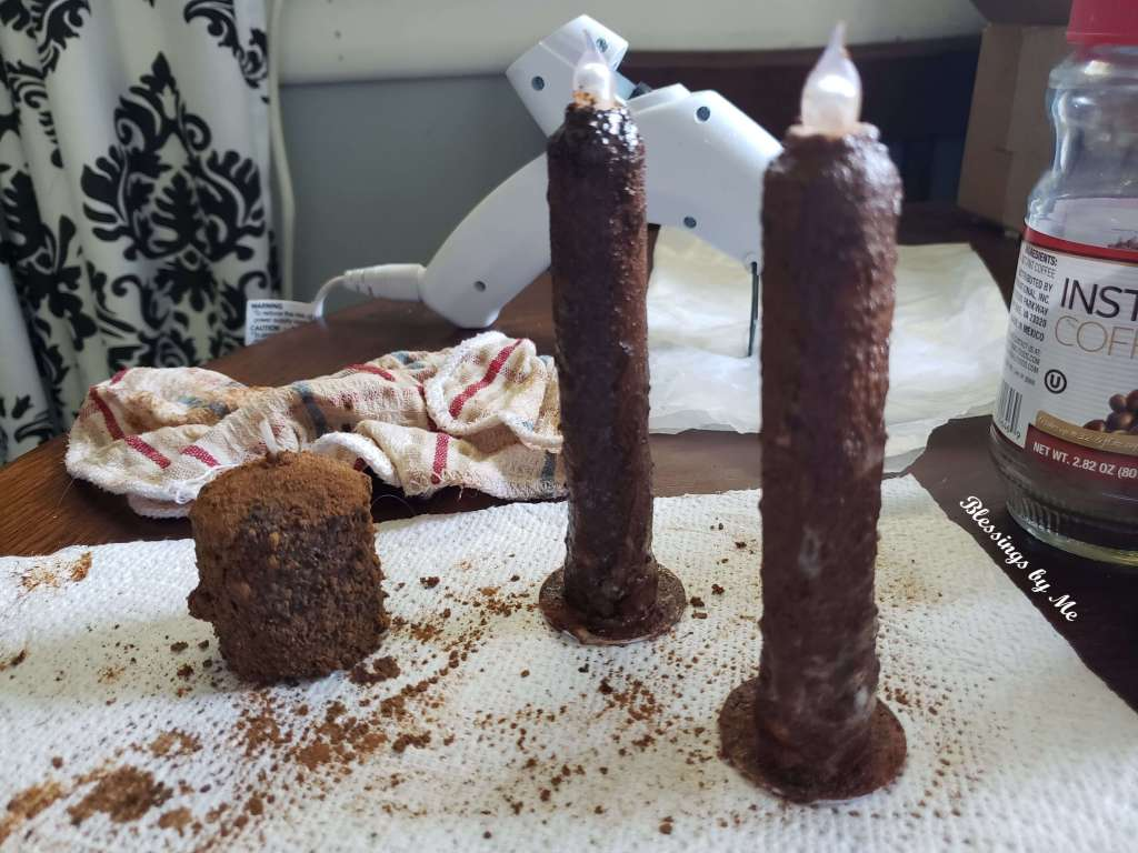Grunged Candles for Hurricane Candle Holder