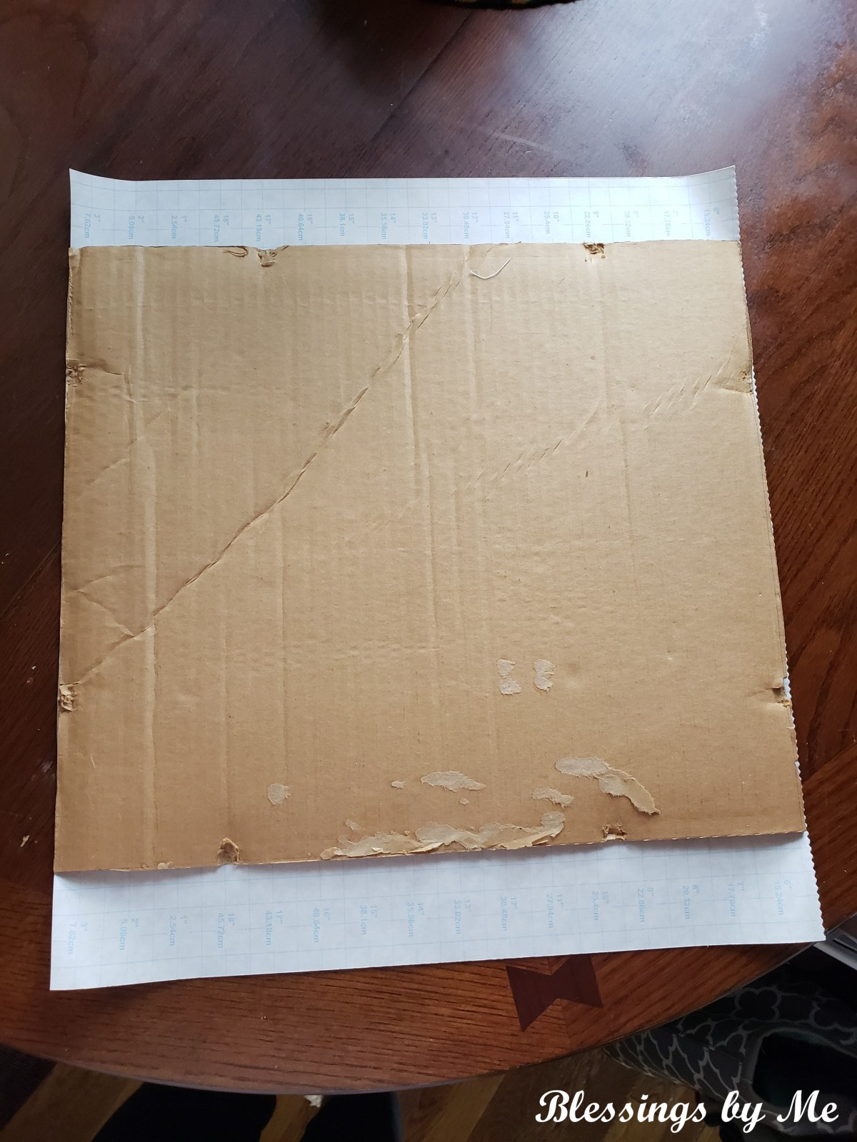 cut the contact paper to size
