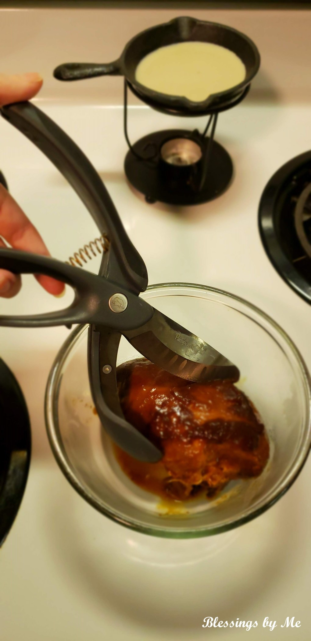 shred the chicken with a shredder or fork