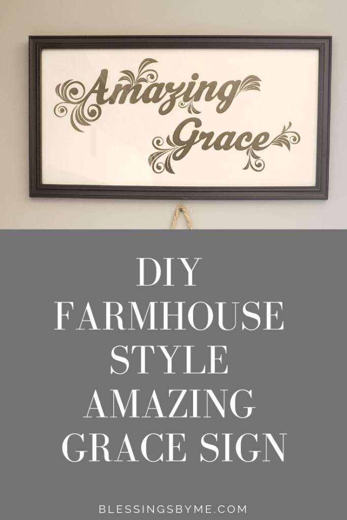 DIY Farmhouse Style Amazing Grace Sign