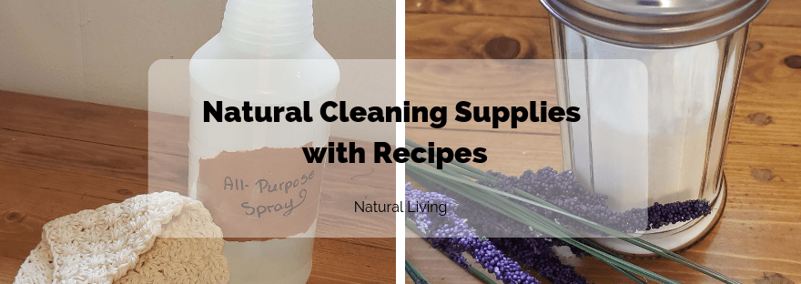 Natural Cleaning Supplies with Recipes