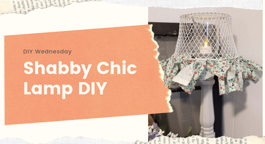 DIY Shabby Chic Lamp