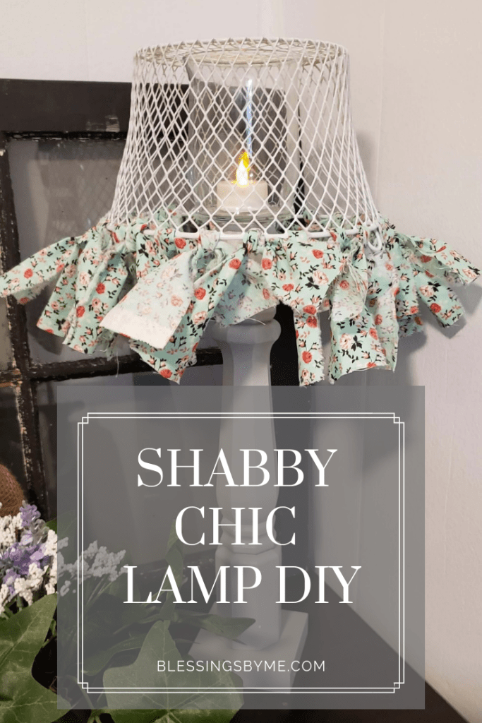 Shabby Chic Lamp DIY