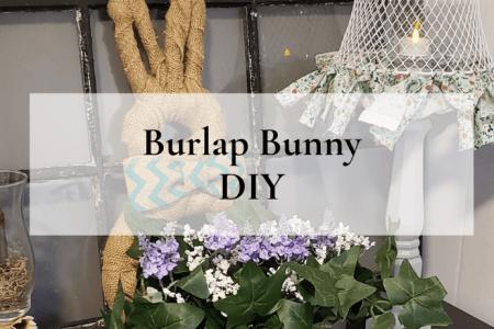 Burlap Bunny DIY