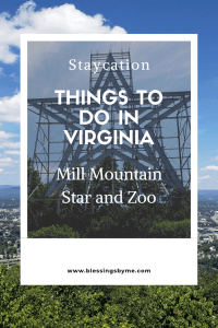 Staycation - Things to do in Virginia - Mill Mountain Star and Zoo