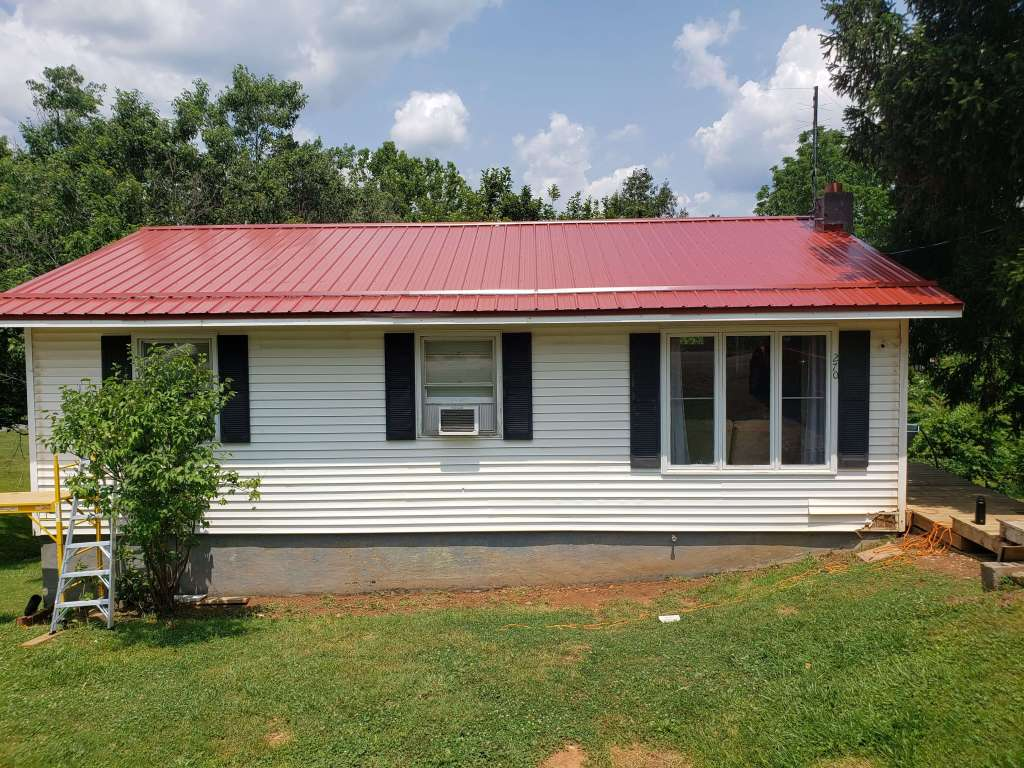 After - new metal roof! Home Renovation Update