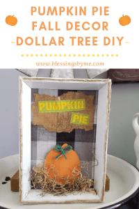Pumpkin Pie Fall Decor Pin