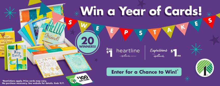 Win a year of cards from Dollar Tree!