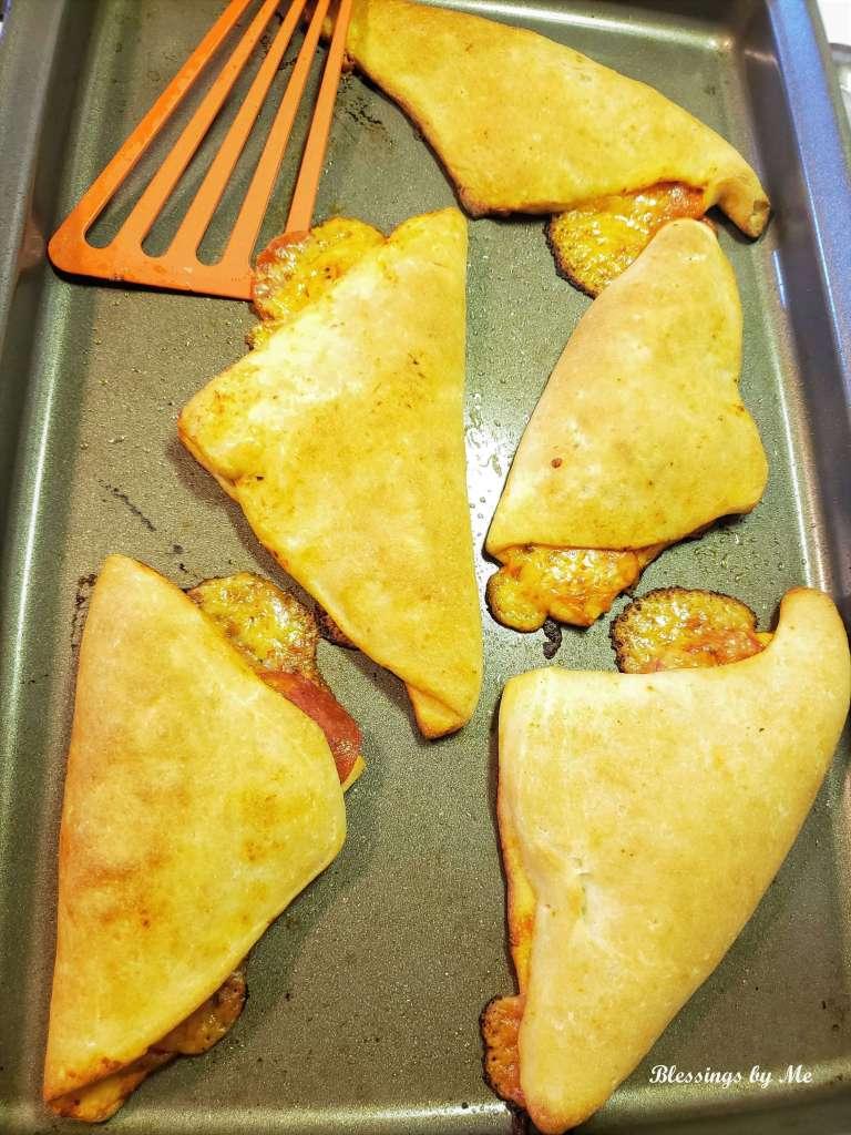 Bake the pizza pockets