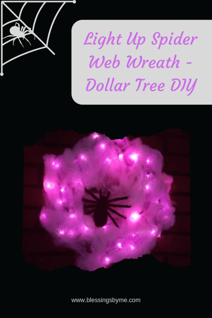 Light Up Spider Web Wreath DIY