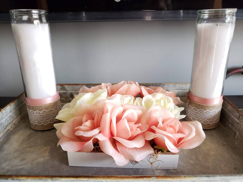 Valentine's Flower Box and Candles