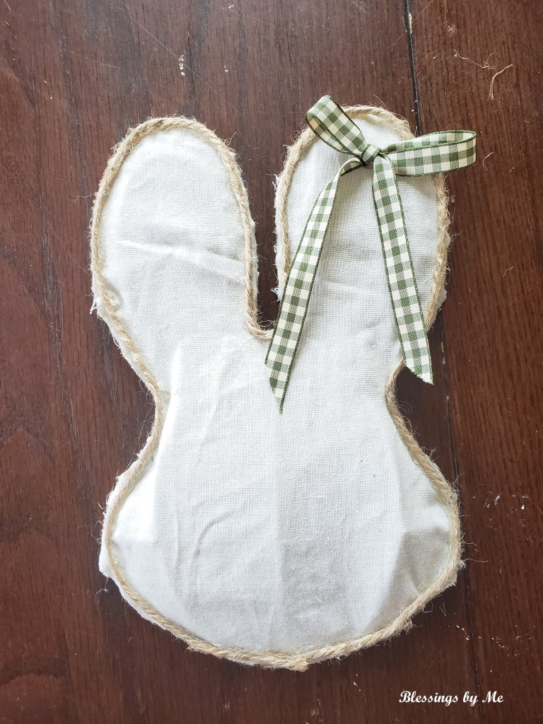 Step 8 - add a bow to the rustic bunny