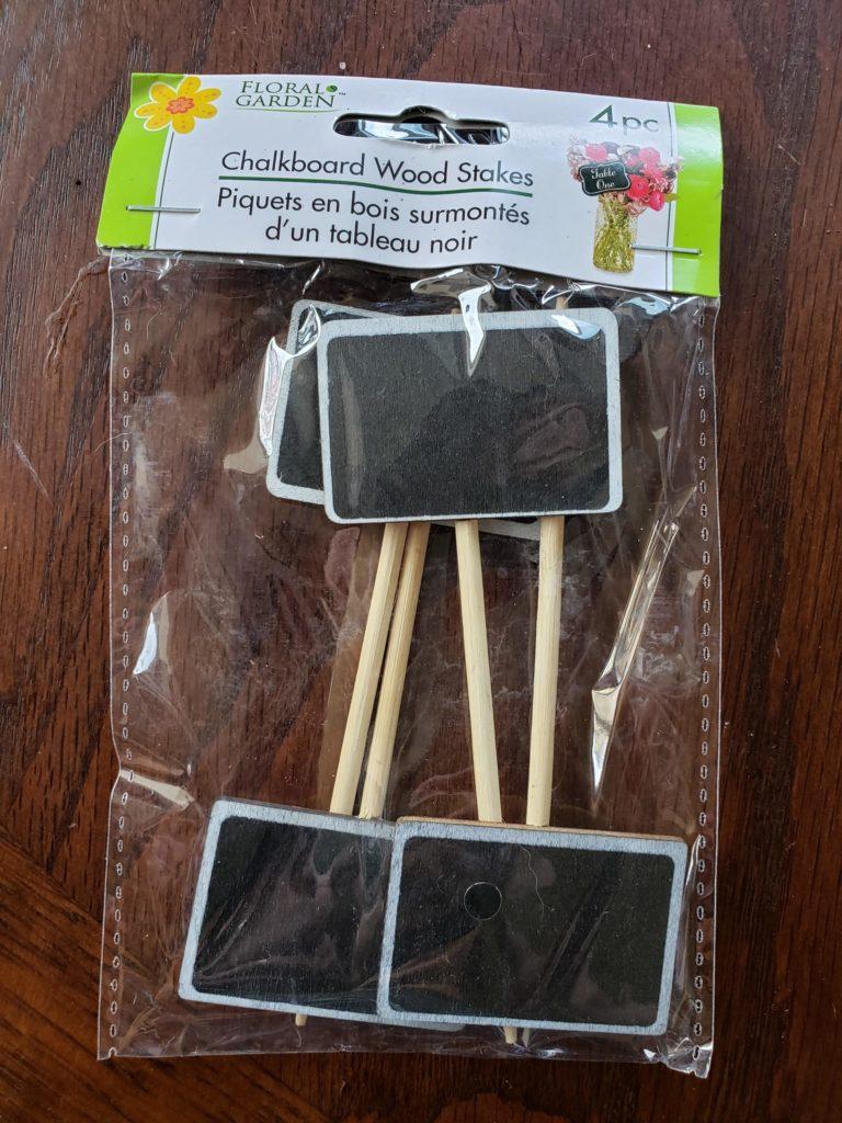 Chalkboard Wood Stakes