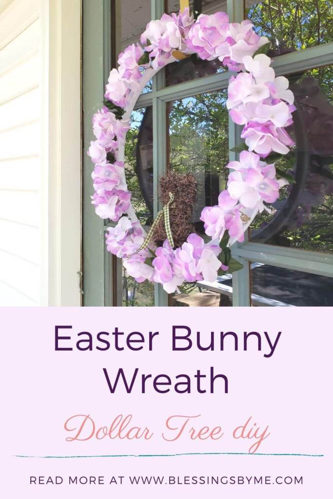 Easter Bunny Wreath - Dollar Tree DIY