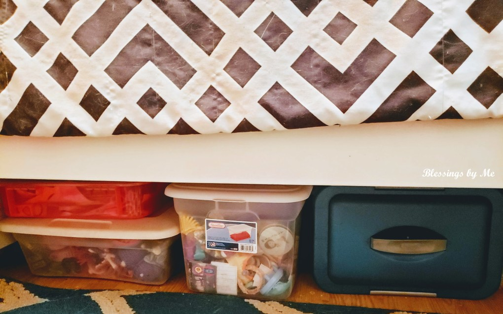 Storage space under the kid's bed