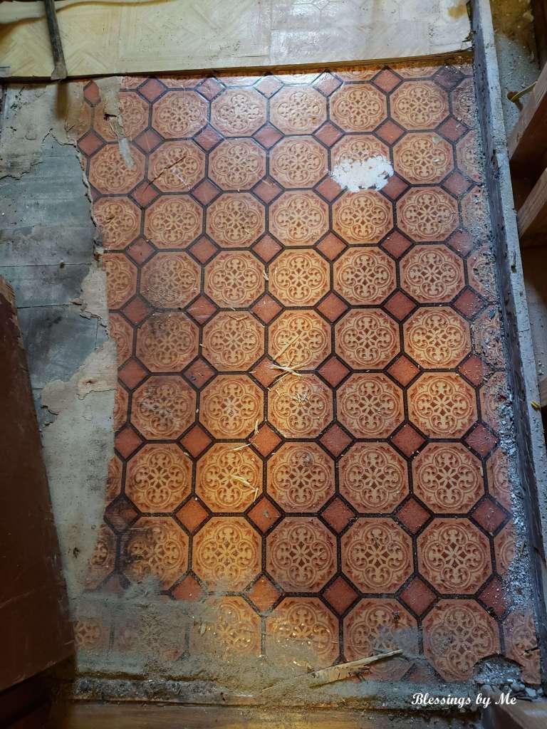 vintage red floor