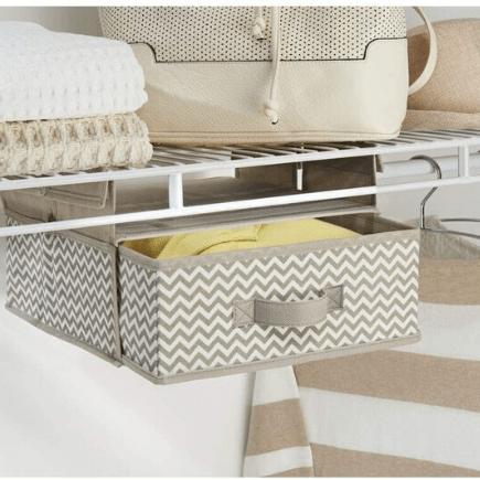 hanging closet shelf  - best organizers for your bedroom