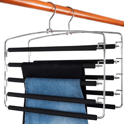 pants hangers - best organizers for your bedroom